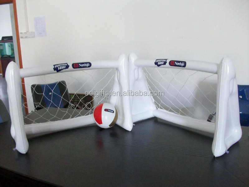 fold up soccer goal post toy ; inflatable plastic goal with net ; PVC air soccer goal for football game