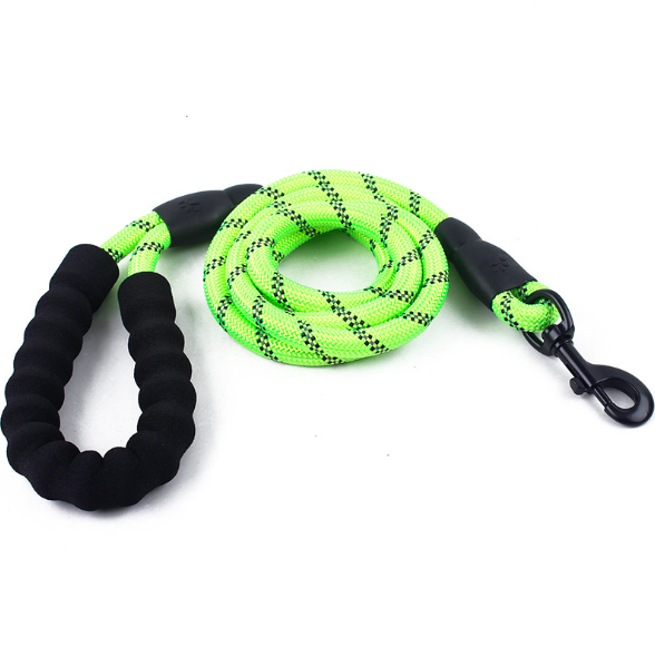 Strong Pulling Padded Handle Reflective Round Climbing Rope Dog Leash