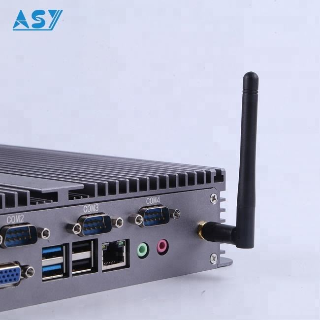 High performance fanless industrial pc intel nuc i7 with mulit ports