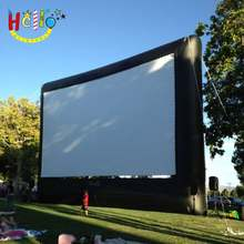 Outdoor inflatable cinema screen advertising inflatable movie rear projection tv screen for sale