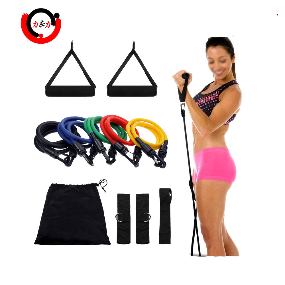11 Stks set van 5 Fitness Weerstand Band set voor ABS Workout Yoga Fitness <span class=keywords><strong>Oefening</strong></span>