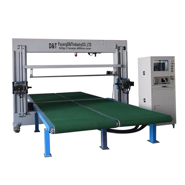 CNC Oscillating Blade Contour Cutter, foam cutting machine, foam mattress cutting machine