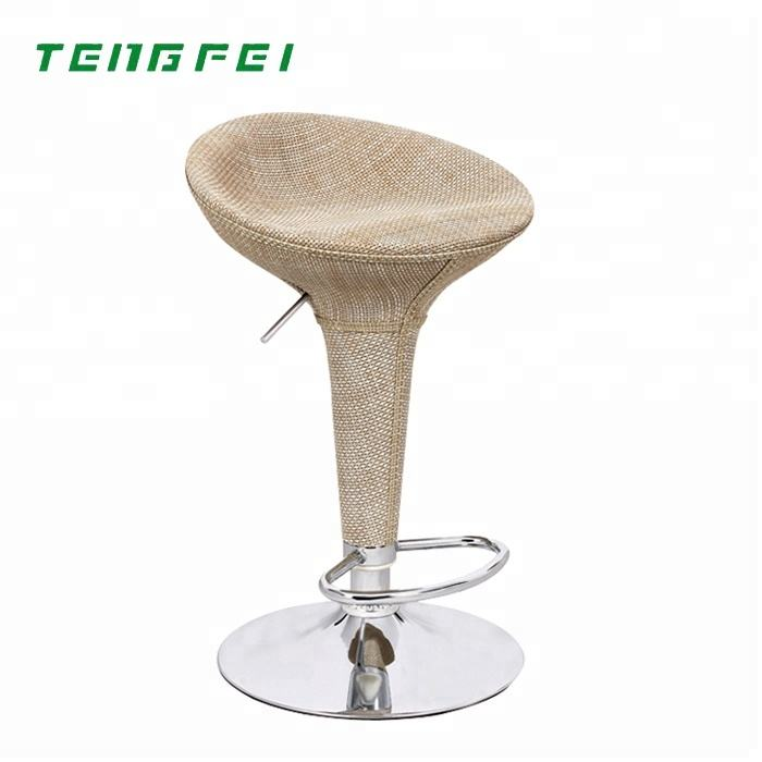 Bar Stool New Products Colorful Good Quality ABS Bamboo Weaving Bar Stool