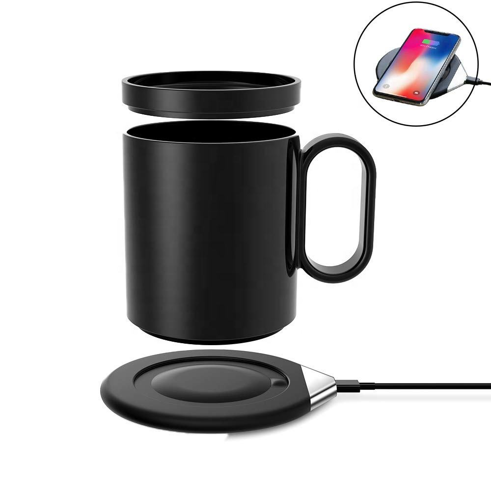 New promotions multifunction cup warmer with QI Wireless Charger,desktop coffee mug warmer constant heated for home and office