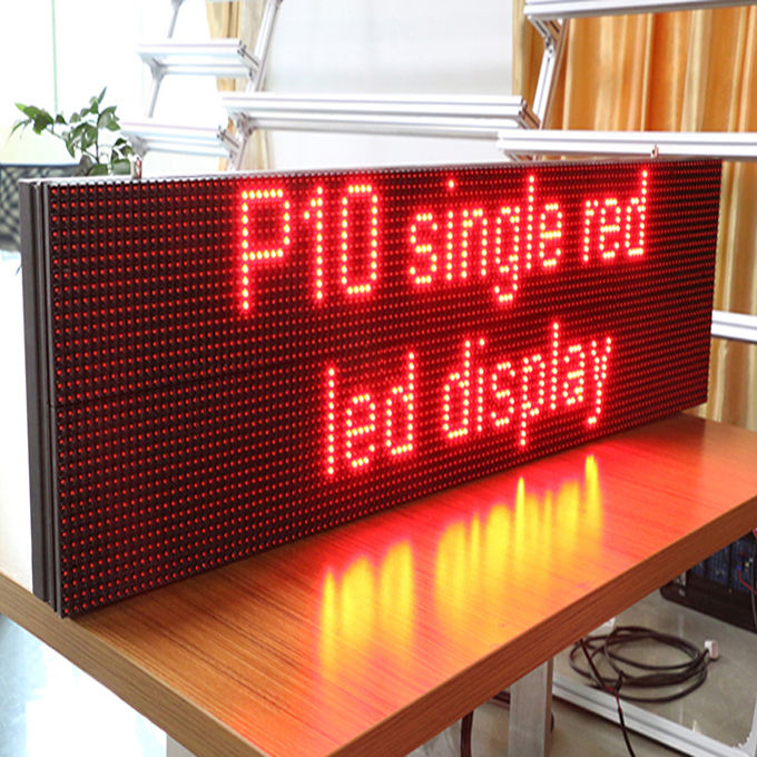 P10 red outdoor led display/scherm/uithangbord programmeerbare led running tekst display