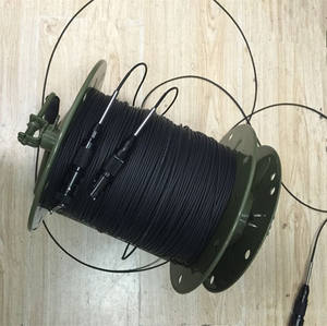2 core single mode tactical fiber optic cable