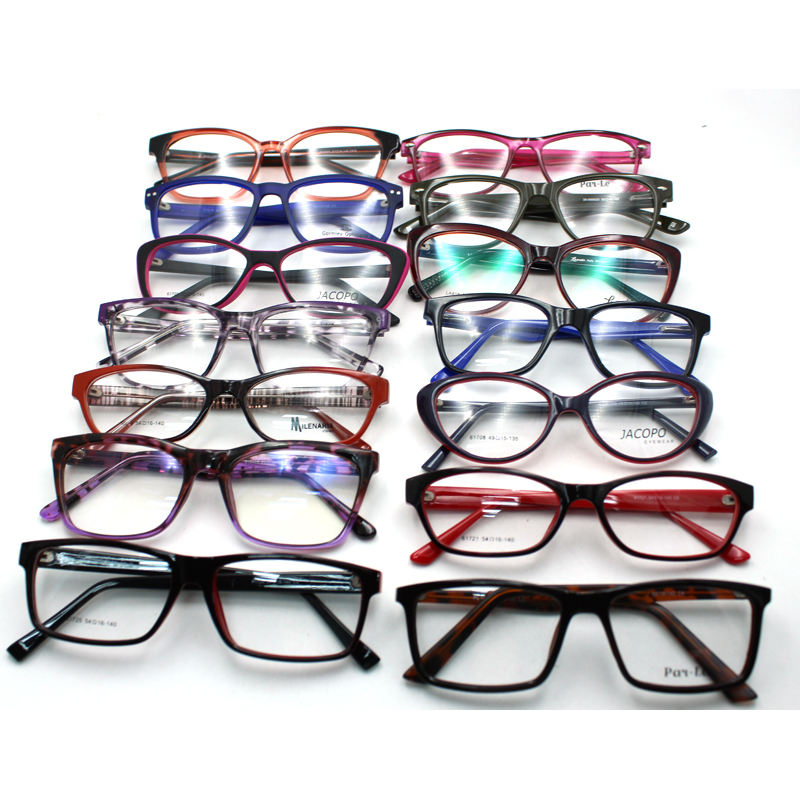 stock assorted ready cheap mixed stock fashion CP plastic injection eyewear optical eyeglass frames