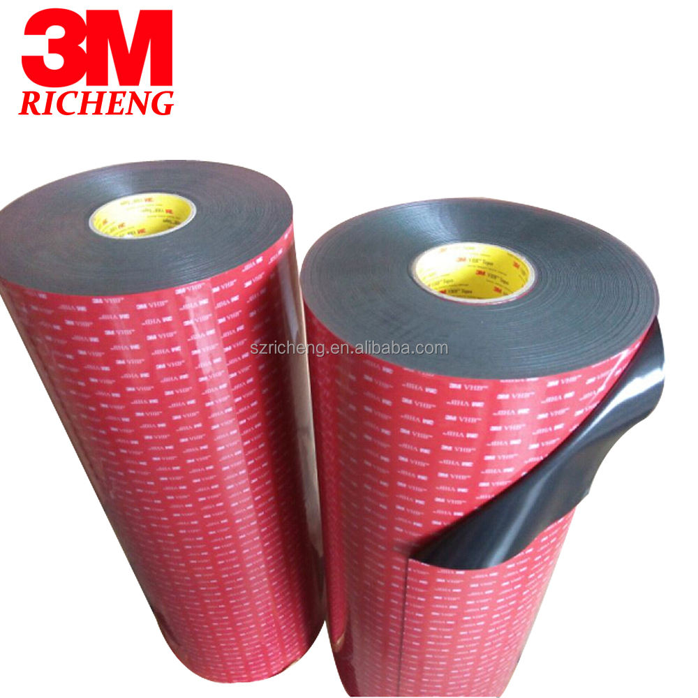 3M 5952 High Performance Indoor Outdoor Use Black 3M VHB Tape Waterproof Acrylic Foam Double Side Tape