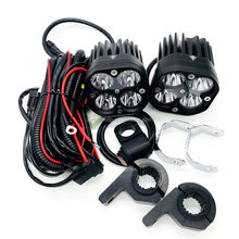 motorcycle 40x led light headlight fog light laser gu n LED driving light