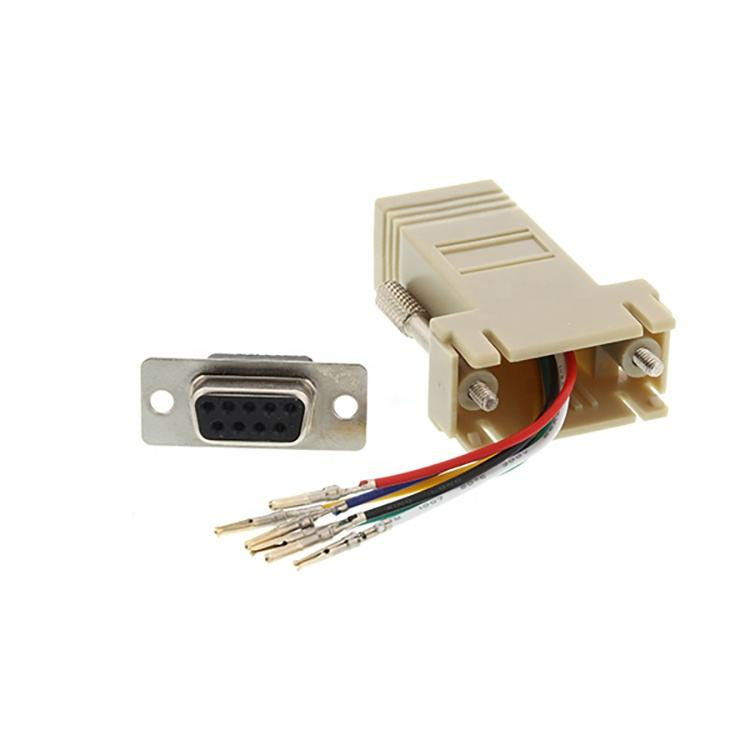 Lot of 3 04J004 Modular Adapter DB-9F to RJ-11F