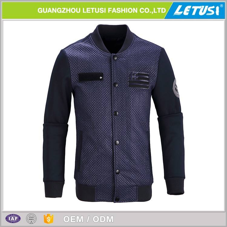Digital Print Us Navy Work Polo Leather Jacket