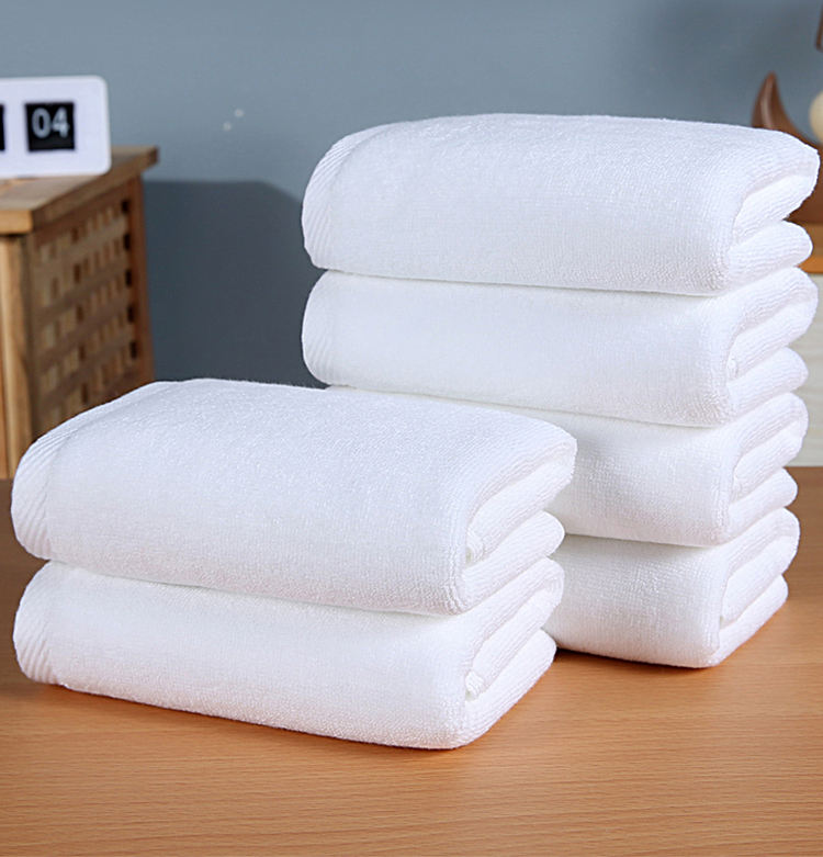 Cotton 32/2s white hotel hand towels