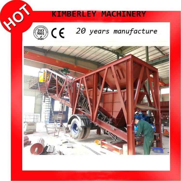 Los mejores productos de venta china de hormigón móviles de procesamiento por lotes planta