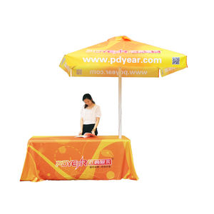PDYear China Cheap Manufacture Outdoor Advertising Custom Logo Printed Sun Shelter Golf Garden Beach Folding Umbrella Covers