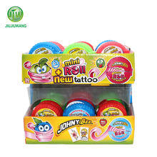 18g mixed fruit flavor bubble roll gum with tattoo in double decker box