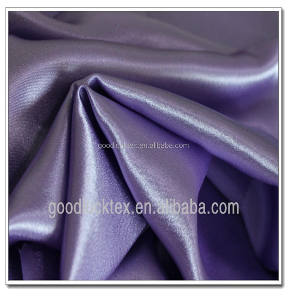 75D*100D Purple Back Crepe Satin for for Upholstery