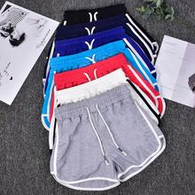 Athletic wear yoga fitness Custom embroidery print logo cotton women gym shorts