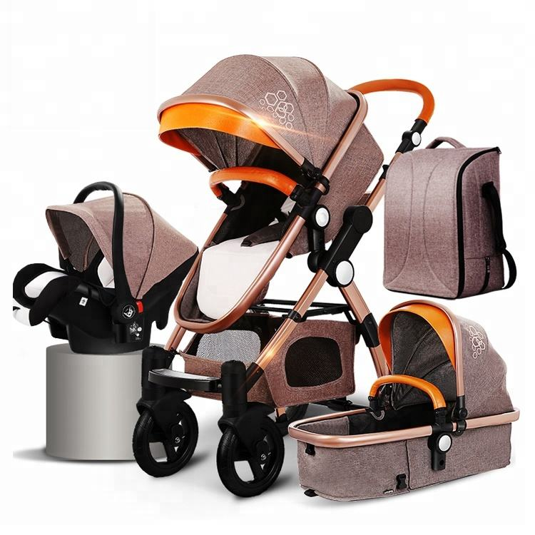 EN 1888 European standard baby stroller pram 3 in 1 with carrycot and carseat Stroller
