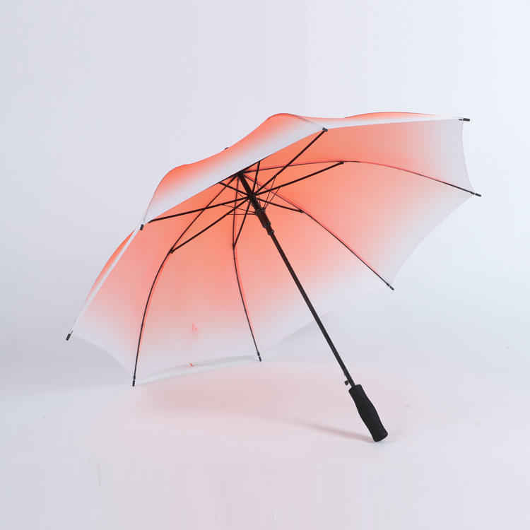 Customized gradient color and custom logo printing auto opening regular umbrella