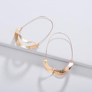 New fashion minimalist alloy large geometric gold U shape earrings