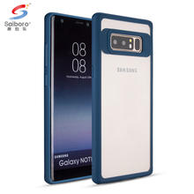 TPU+ Acrylic phone case for galaxy note 8 cover,shockproof for samsung galaxy note 8 case clear
