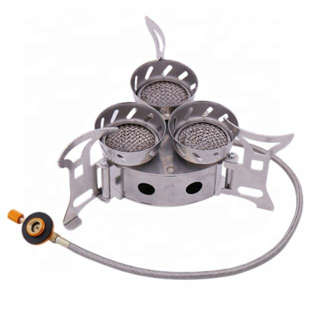 Outdoor super windproof portable camping gas stove
