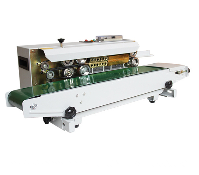 Desktop automatic induction sealing machine stainless steel Continuous Induction Sealer for different size of bags