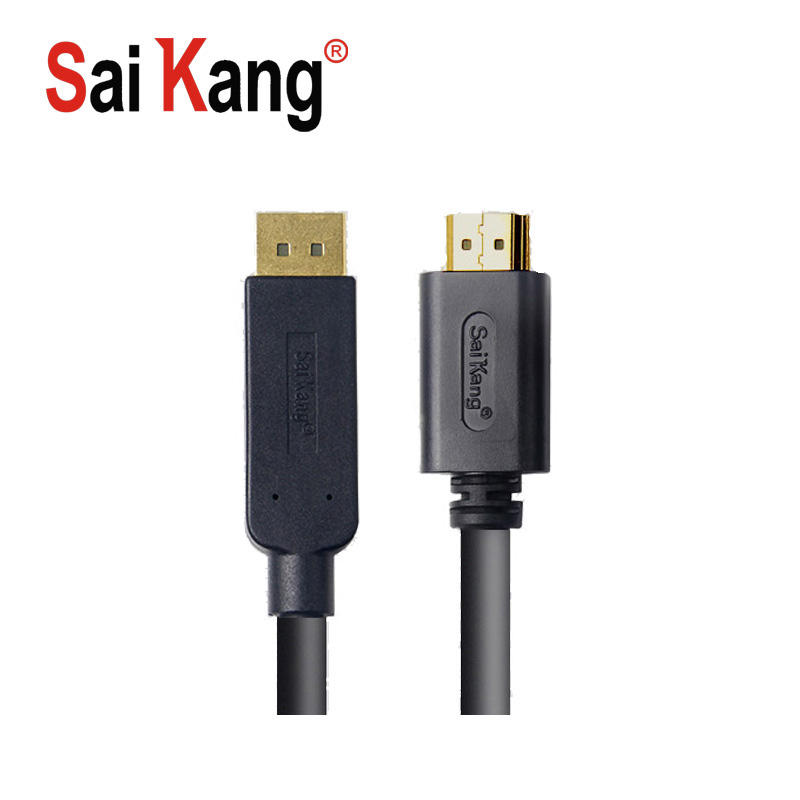China markt SaiKang hdmi kabel 4k 1080p computer draht und kabel stecker-stecker displayport dp zum hdmi cableConnection signal