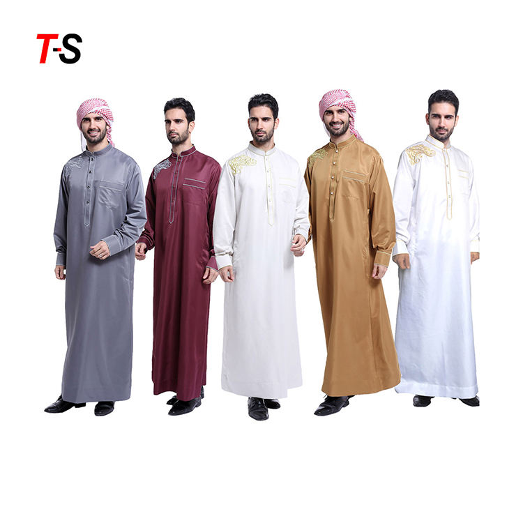 Customized Middle Eastern Muslim Arab Men Thobe Thawb caftan islamic clothing
