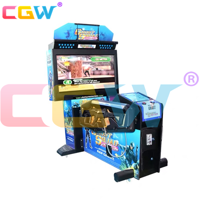 CGW Euro Muntautomaat Simulator Shooting Game, Arcade Shooting Game Kit, Laser Shooting Game Gun Voor Verkoop