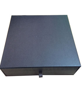 custom matte black cardboard jewelry box with uv coated glossy shiny logo