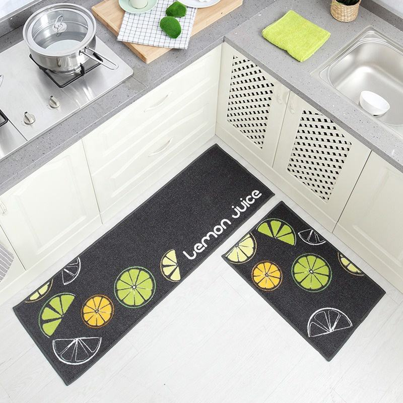i@home Kitchen Carpet Anti Skidding Large Bathroom Rug Modern polyester Woven Floor Mat
