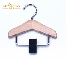 KINIDA Hanger factory custom light weight black brown home small pet / doll wooden hanger for clothes