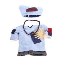 2019 hot sales wholesale Cheap Funny business clothes pets cosplay costume monk clothes Teddy Bichon stand Halloween clothes