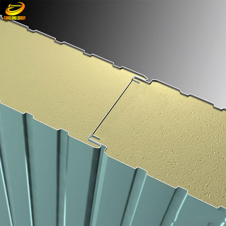 Good quality fireproof insulation polyurethane sandwich panels