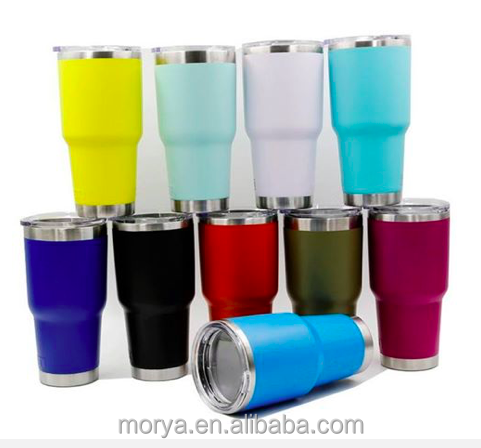 30oz tumbler beer mug vacuum insulated cup keep hot and cold