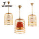 Modern Decorative Hanging Light Witn Chrome Golden Iron Bird Cage Pendent Light lamp