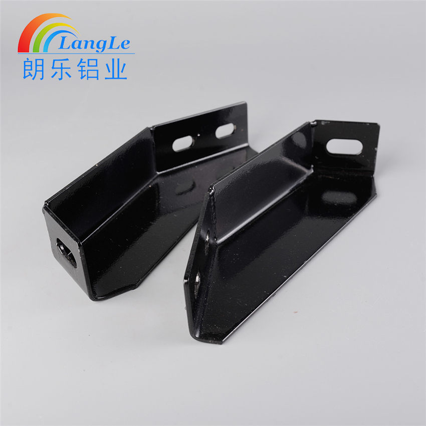 Carbon steel welded silver/black anchor angle bracket