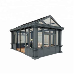 New style commercial small garden green glass house aluminum