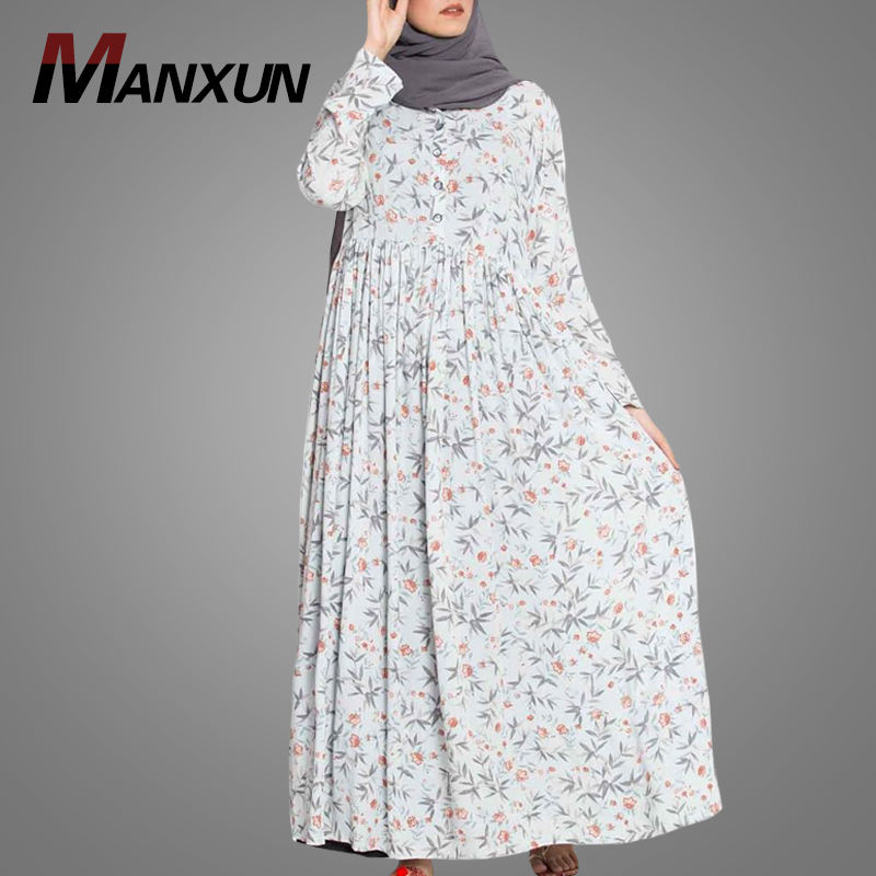 Hot Sale Printed Pictures Dubai Design Abaya Free Size Big Hem Muslim Long Jubah Excellent Quality Islamic Fancy Women Clothing