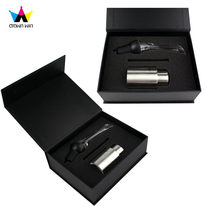 Luxury Black Packaging Magnetic Gift Box for Small Product with Foam Velvet Insert