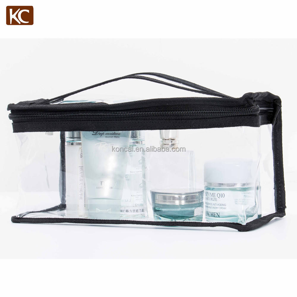 Professionele Groothandel Klant Transparante Pvc Mini Cosmetische Borstels Bag Case Make-Up Pouch