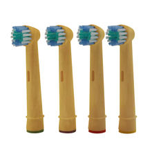 Compostable Charcoaled Bamboo electric Toothbrush Heads for Oral Brush with bamboo brush