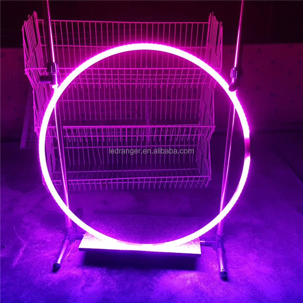 Multi-color led hula hoop per i bambini, Personalizzabile LED cerchi, RGB LED Hula Hoop, Super Luminoso
