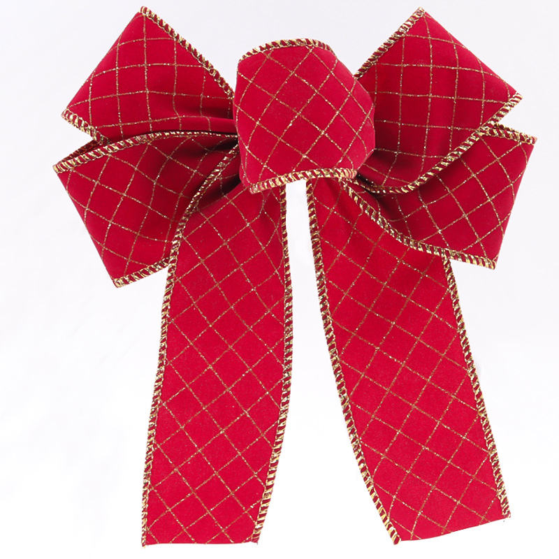 2020 large red velvet Christmas ribbon bow holiday decoration red velvet bows