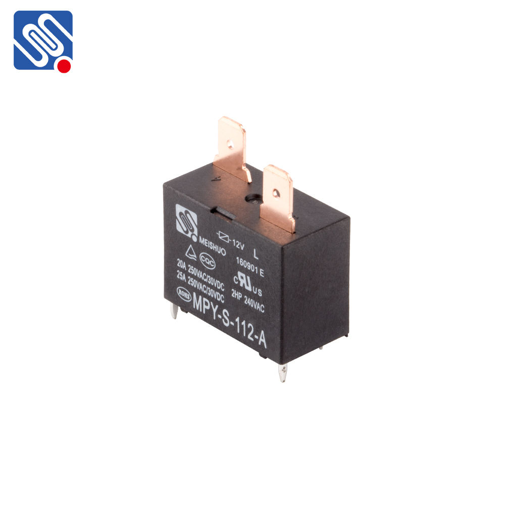 Meishuo MPY - S - 112 - A power mini 12v 20a 25A 250VAC 4pin pcb general purpose relay For air conditioner