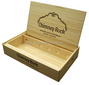 Six bottles wooden wine crate box, wooden gift box wine box 6 bottles