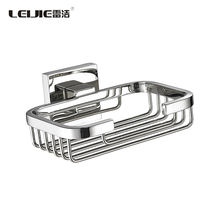 Wholesale Bathroom Accessories Stainless Steel Wall Mounted Soap Dish Basket