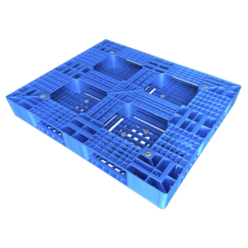 1210 Durable six runner plastic pallets plastic trays for rack storage