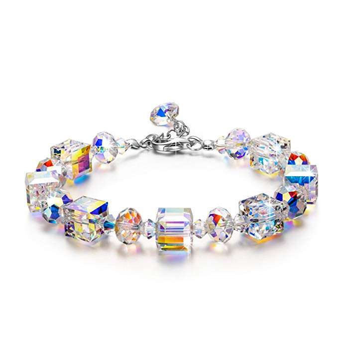 925 Sterling Silver Hermosa Commercio All'ingrosso Dei Monili di Modo Amazon Hot Aurora Luce Del Nord Bracciali di Cristallo da Swarovski